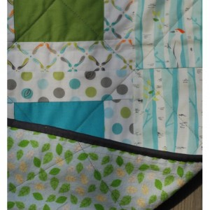 Backyard Baby Patchwork Quilt with Flannel Back
