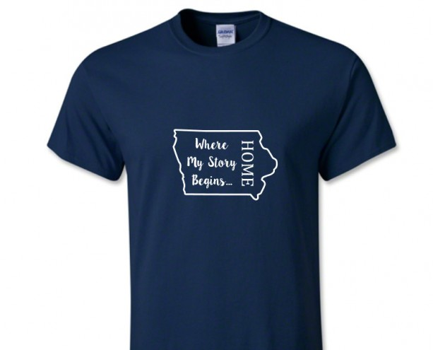 Iowa State T Shirt, Where My Story Begins... Home State T Shirt FREE SHIPPING