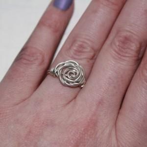 Handmade Sterling Silver Rosette Ring