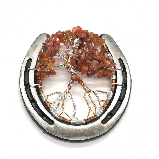 Horseshoe Tree of Life with Red Agate