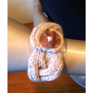 Knitted Beige Bracelet