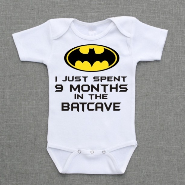 I spent 9 months in the batcave funny baby bodysuit
