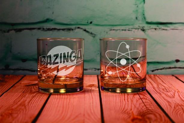 2 Big Bang Theory Inspired Rocks Glasses