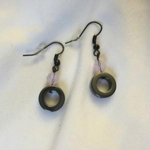 Crystal and Hematite Earrings