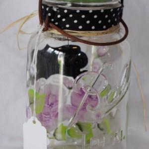 Vintage Mason Jars, Ball Hand painted One-stroke Flowers chalkboard Label