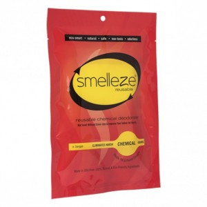 SMELLEZE Reusable Chemical Odor Remover XX Large Pouch: All-Natural Deodorizer Cleans Air in 300 Sq. Ft. Area