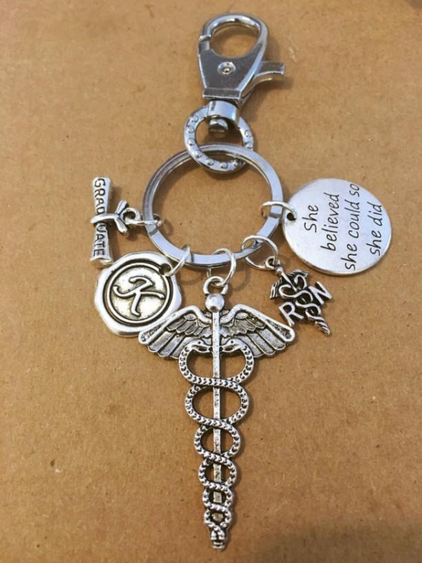 New Registered Nurse Charm Key Chain