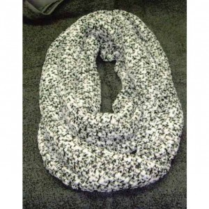 "White/Black infinity scarf,  ""Handmade"" (8""x32"") for Women"