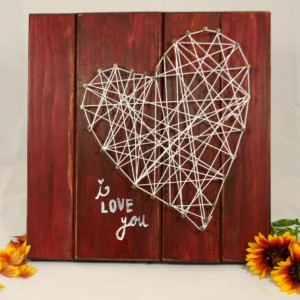 Pallet Sign with String Art