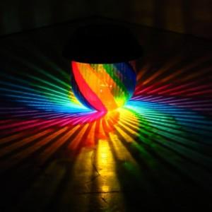 HandPainted Rainbow Solar Luminary
