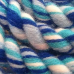 Jump Rope, Dark Blue, Light Blue, Turquoise and White Ocean Cabana
