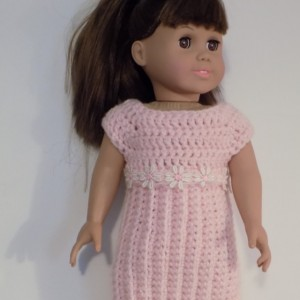 pink dress for american girl doll