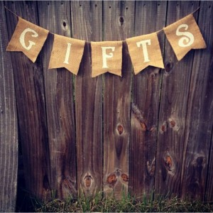 Burlap 'Gifts' Banner