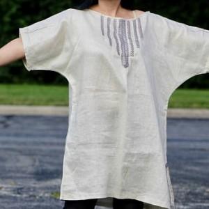 Linen Tunic Dress Linen Top Natural Linen
