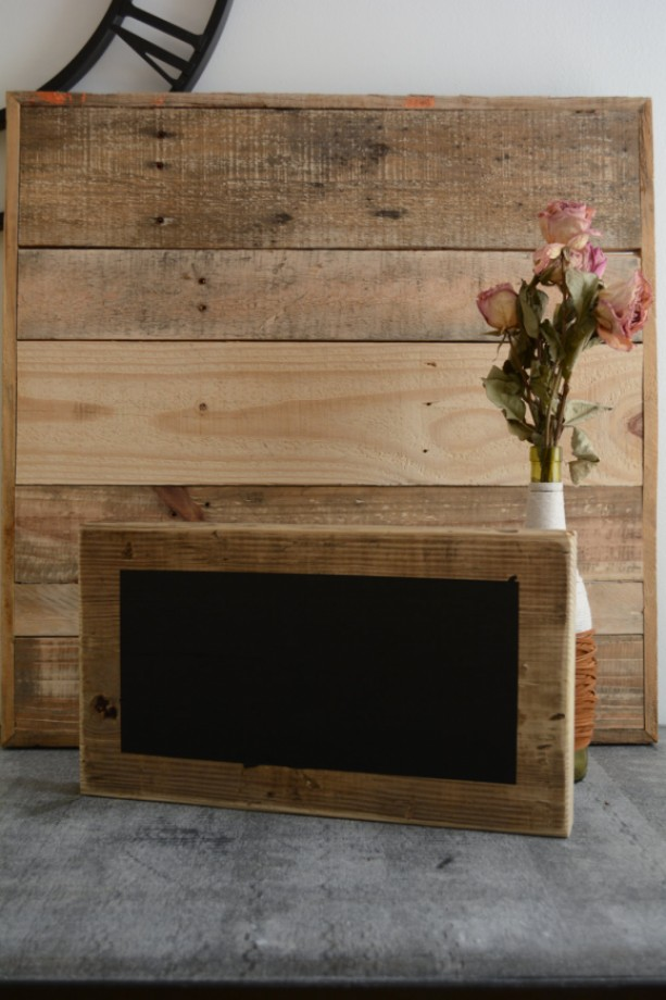 Extra Large Reclaimed Wood Chalkboard Block