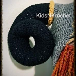 Costume Crochet Viking hat with optional beard