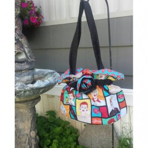 I Love Lucy scrunched shoulder bag-OoaK
