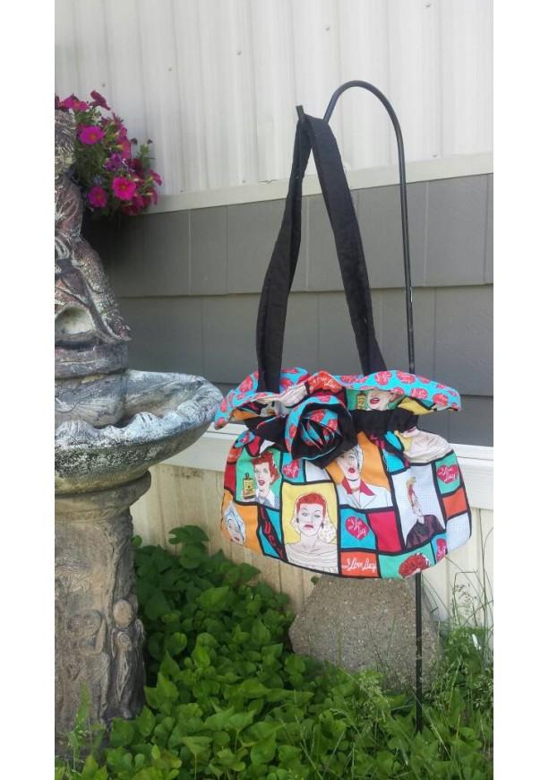 I Love Lucy scrunched shoulder bag-OoaK