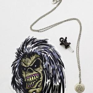 Spooky Halloween Pentacle Necklace Set