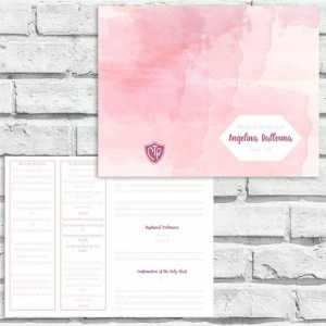 LDS Baptism Program - Pink