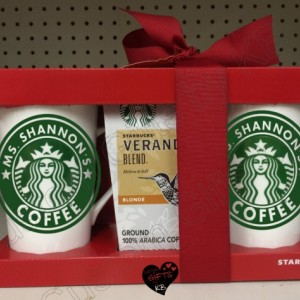 Starbucks Personalized ceramic mug gift set, Custom Starbucks Coffee Cup, Custom Starbucks Cup Gift, Starbucks Gift Set, Christmas Gift Set