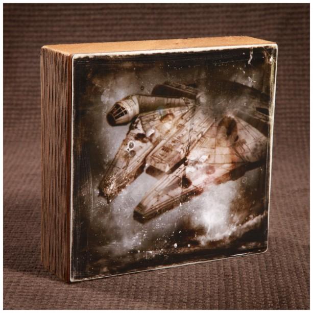 Star Wars Millennium Falcon Reclaimed wood art piece
