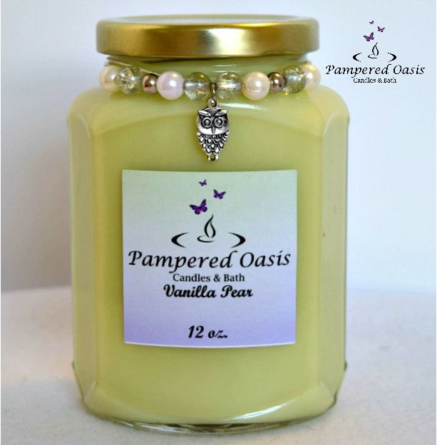 Vanilla Pear Soy Candle - Eco Friendly Candle - Clean Burn Candle - Vanilla Pear Candle - Fruit Scented Candle - Fruit Candle