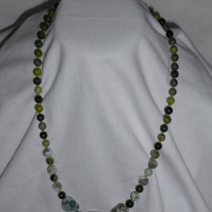 African Jade and Moss Agate Gemstones