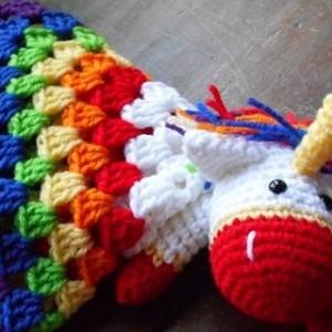 Classic Rainbow Unicorn Baby Lovey