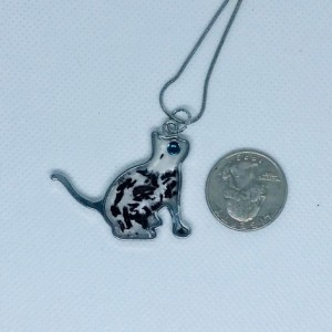 Cat pendant and earrings for cat lover