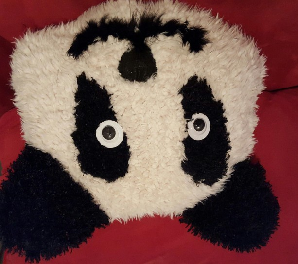 Oversized Fur Panda Pillow