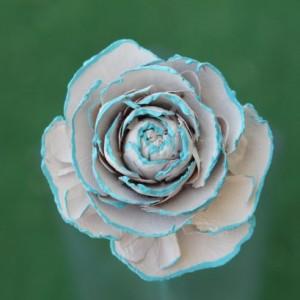 12 Customizable Hand-Painted Cedar Rose Pine Cone Flower Bouquet