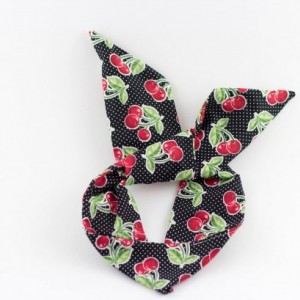 SALE ** Black With Red Cherries Rockabilly Wire Headbands, Free Shipping, LIMITED EDITION, Rockabilly Style, Rockabilly inspired, Handmade