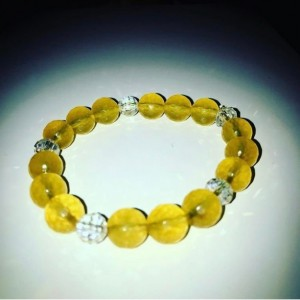 Exquisite, Handmade Gorgeous Citrine/Crystal Bracelet