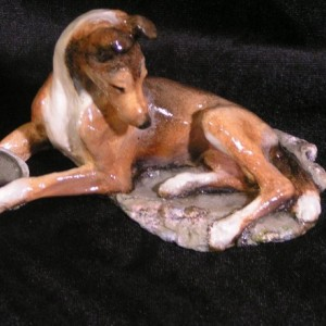 Ron Hevener Collectible Smooth Collie Figurine