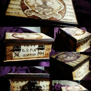 Custom Norse Viking Engagement/Wedding Ring Box