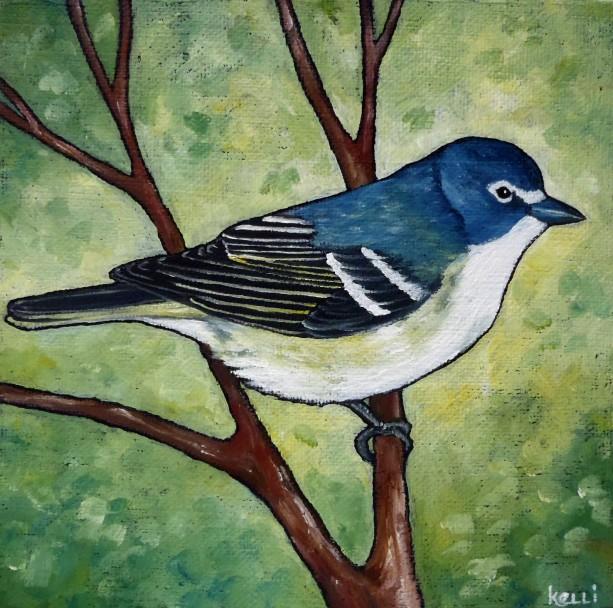 """Blue-headed Vireo"" original oil painting"