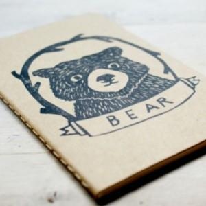 Bear Cub Animal Lined Notebook Moleskine