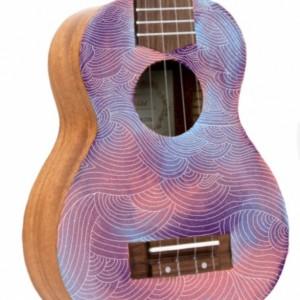 Soprano Galaxy Ukulele, Hand Painted Ukulele, Decorated Ukulele, Galaxy Paint, ukulele instrument, concert, tenor, baritone, guitar