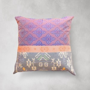 Indigo Woven 20 x 20 inches Ikat Pillow, Handmade Decorative Pillow, Traditional 3D Ikat Pillowcase, Modern Decorative Pillow for Couch
