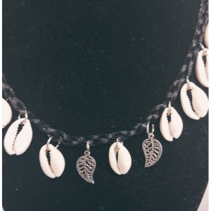 Natural Braided Conch Seashell Necklace Set