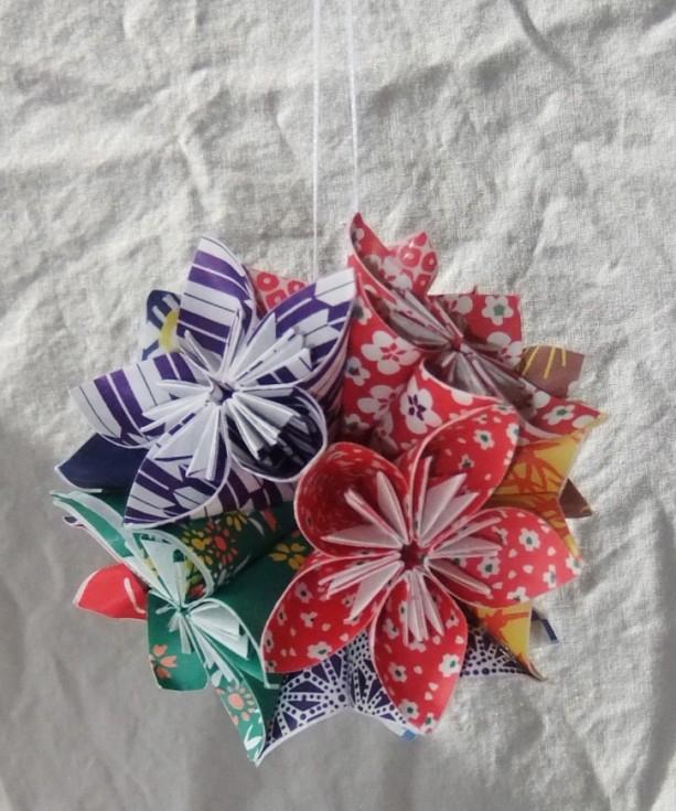 Kimono Fantasy Flower Origami Ornament Christmas Tree X Mas Fan