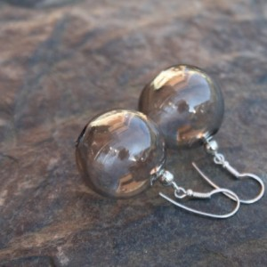 Blown Glass Earrings - Transparent - Lightweight