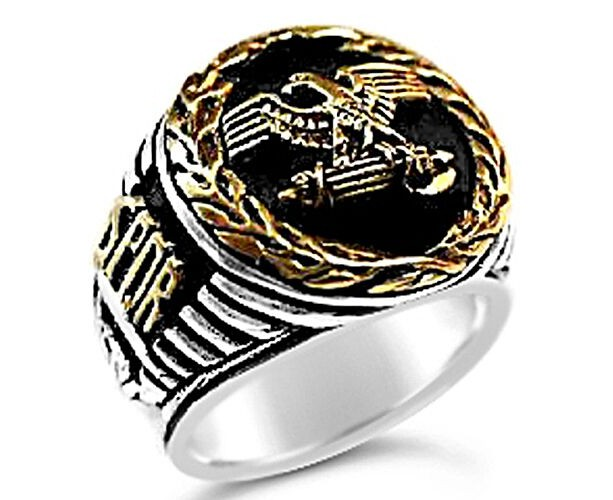 Roman Tribune Eagle Wreath  Ring sterling silver