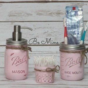 Mason jar bathroom set - 3 Piece Ball Mason Jar bathroom set - Many Colors to choose from