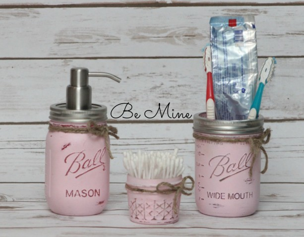 mason jar bathroom set - 3 piece ball mason jar bathroom set - ma
