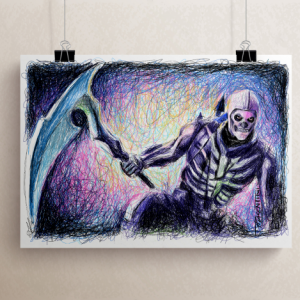 Fortnite's Skull Trooper Print by Pablo Piacentini