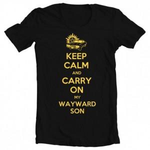 "Supernatural ""Keep Calm and Carry On My Wayward Son"" Girls' Tee"