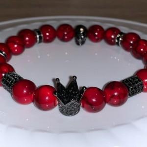Skull King Bracelet-Red