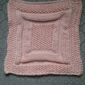 Handmade washcloth in pink